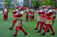 Honourable在Ci的Artillery Company的矛兵和步兵 免版税库存图片