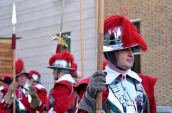 Honourable Artillery Company的矛兵和步兵在Lo 免版税库存照片