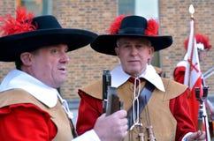 Honourable Artillery Company的矛兵和步兵在Lo 库存图片