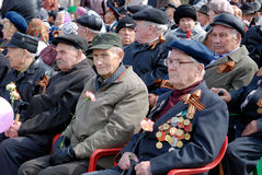Honourable Russian WWII veterans Stock Photos