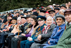 Honourable WWII's veterans Stock Photos