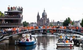 Honouring della squadra di calcio olandese Immagini Stock Libere da Diritti