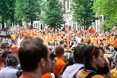 Honouring of the Dutch soccer team. The Dutch football team lost the World Cup Royalty Free Stock Photography