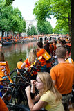 Honouring of the Dutch soccer team Royalty Free Stock Images