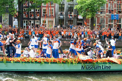 Honouring of the Dutch soccer team. The Dutch football team lost the World Cup Stock Photo