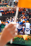 Honouring of the Dutch soccer team Stock Photos
