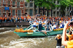 Honouring Of The Dutch Soccer Team Stock Photo