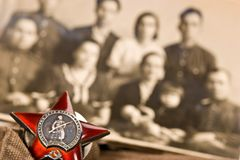 Honours. Medal of red star, memory about world war two Royalty Free Stock Photography