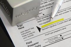 Honradez del impuesto Imagen de archivo