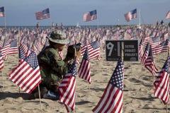 Honrando 9-11 fotografia de stock