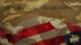 Honrando a todos que sirvieron Día de veteranos imagen de archivo