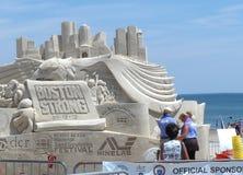 Honrar a areia nacional da praia que esculpe o festival Fotos de Stock Royalty Free