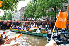Honrar da equipe de futebol holandesa Foto de Stock