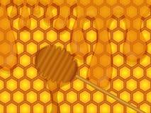 Honung vektor illustrationer