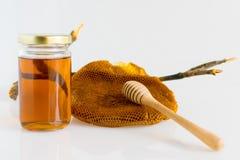 Honung med honungskakan Royaltyfria Bilder