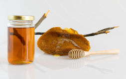 Honung med honungskakan Royaltyfria Foton