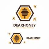 Honung- och bilogo Arkivbild