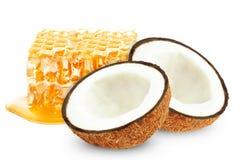 Honung och kokosnöt Royaltyfri Foto