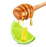 Honung och limefrukt royaltyfria bilder