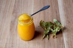 Honung- och lindblommor Arkivfoto