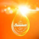 Honungdroppe över orange utrymme Royaltyfri Fotografi