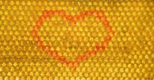 Honunghjärta i hårkammar Royaltyfria Foton