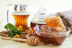 Honungskaka Arkivbild