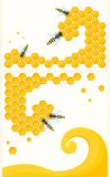Honungskaka och kryp Arkivfoto