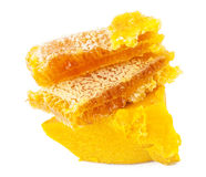 Honungskaka och vax Arkivbild
