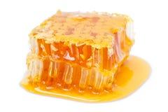 Honungskaka på white Royaltyfri Fotografi