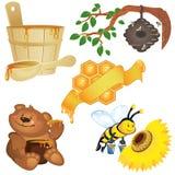 honungsymboler Fotografering för Bildbyråer