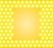 Honungvektorram med gula honungskakor Arkivbilder