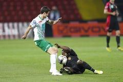 Honved对Ferencvaros (FTC) OTP银行同盟足球比赛 库存图片
