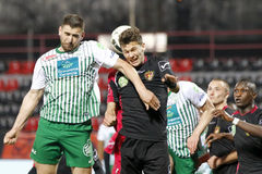 Honved对Ferencvaros (FTC) OTP银行同盟足球比赛 免版税图库摄影