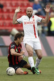 Honved vs. DVTK football match Stock Images