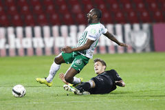 Honved vs. Ferencvaros (FTC) OTP Bank League football match Royalty Free Stock Images
