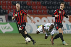 Honved vs. Ferencvarosi TC OTP Bank League football match Stock Photography