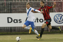 Honved vs. MTK OTP Bank League football match Stock Photo