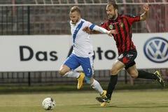 Honved vs. MTK OTP Bank League football match Stock Photo