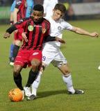 Honved vs. Ujpest OTP Bank League football match Royalty Free Stock Photography
