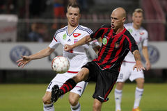 Honved vs. Videoton OTP Bank League football match Royalty Free Stock Images