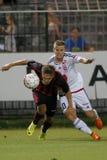 Honved vs. Videoton OTP Bank League football match Royalty Free Stock Photos