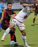 Honved vs. Videoton OTP Bank League football match Royalty Free Stock Image