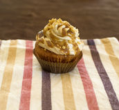 Hony cupcake. Closeup of a honey cupcakes Stock Image