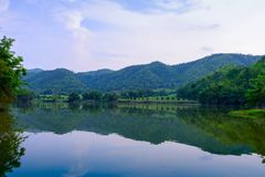 Hoob Khao Wong Reservoir, Danchang, Suphanburi, Thailand, stock foto
