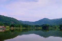 Hoob Khao Wong Reservoir, Danchang, Suphanburi, Thailand, stock afbeelding