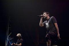 hoobastank Jakarta de concert sous tension Images stock