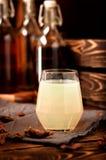 Hooch moonshine alcohol drinks propolis  glass Royalty Free Stock Photos