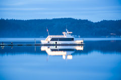 Hood Canal boat Stock Photography