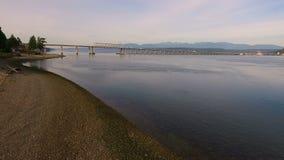 Hood Canal Bridge Puget Sound Highway Transportation Washington State stock video